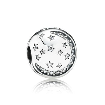 PANDORA Twinkling Night with Clear CZ Clip-348143