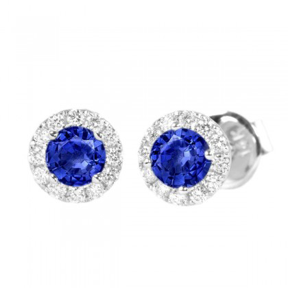 347466-Blue Sapphire and Diamond Earrings