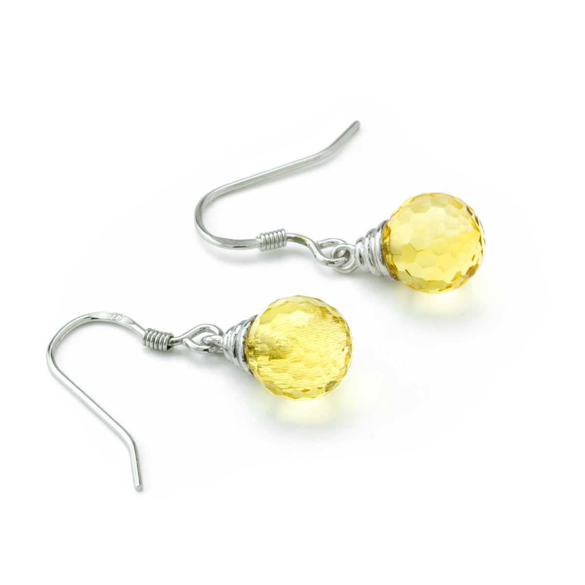 Citrine Earrings-645-1068