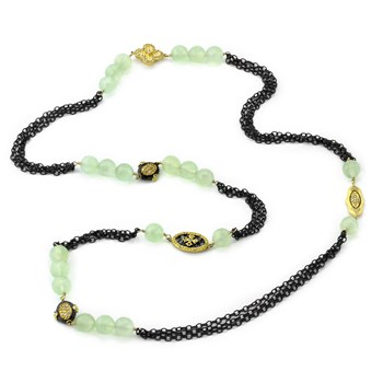 Tourmaline Accent Necklace-235-450