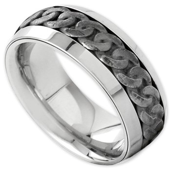 Curb Link Design Ring-342375