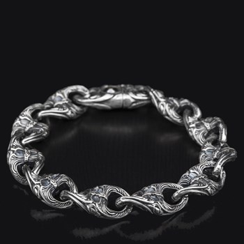 Sterling Silver Twist Anchor Bracelet 611-90