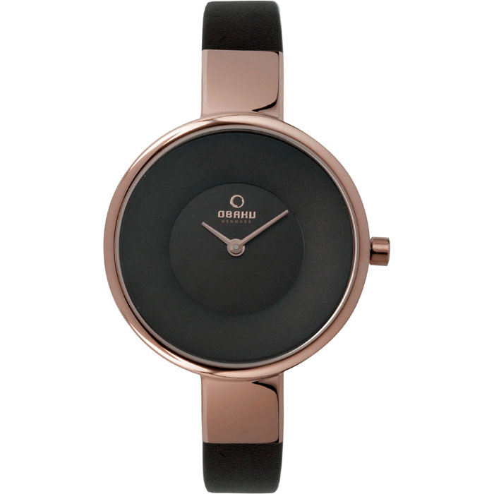 500-26-Obaku Women's Brown Leather Watch