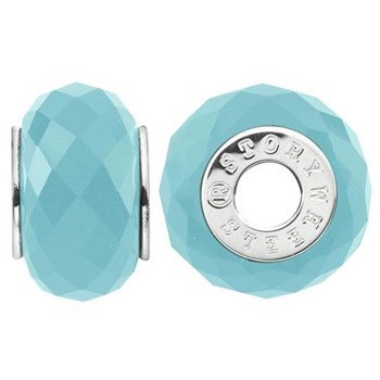 Storywheels Faceted Dyed Blue Jade Sterling Silver Wheel-333775