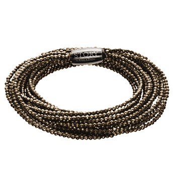 STORY by Kranz & Ziegler 5 Strand, Triple Wrap Pyrite Bracelet RETIRED ONLY 5 LEFT!