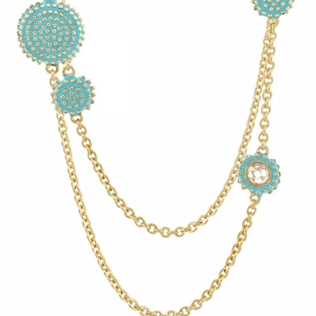 342334-Baby Blue 'Rock N' Roll' Necklace