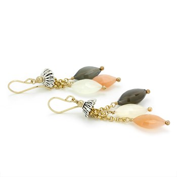 Moonstone Earrings-210-779