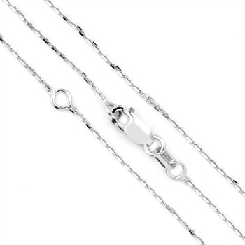 14K White Gold 20'' Tiffany Chain-343727