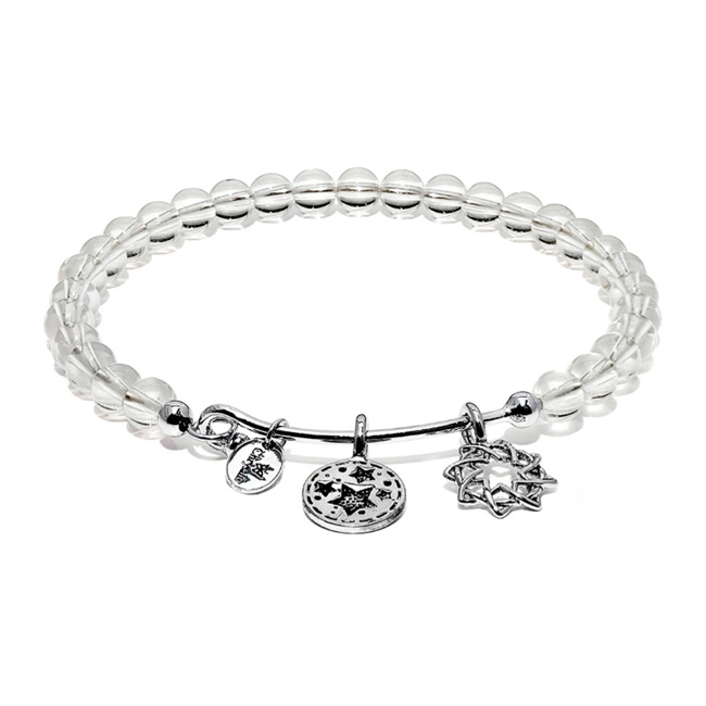 345090-White Crystal REDEMPTION Bangle - Chrysalis Guardian Collection