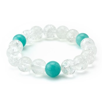 Clear & Blue Stretch Bracelet-655-3307