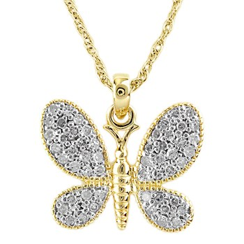 Butterfly Diamond Pendant-341543