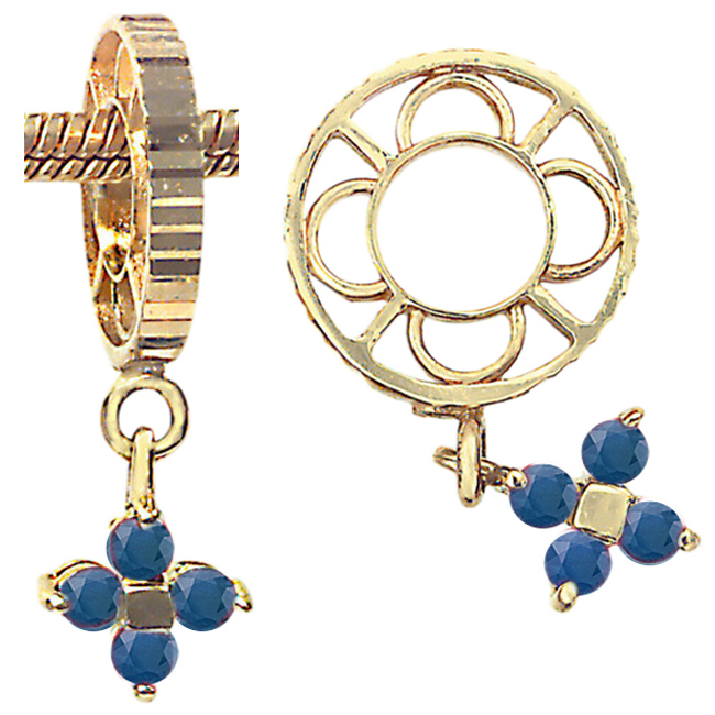 270250-Storywheels Sapphire Flower Dangle 14K Gold Wheel