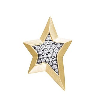 STORY by Kranz & Ziegler Gold-Plated Star Gem Button