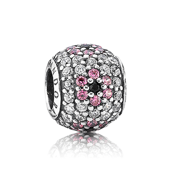 PANDORA Shimmering Blossom Pavé Charm RETIRED LIMITED QUANTITIES! 342930