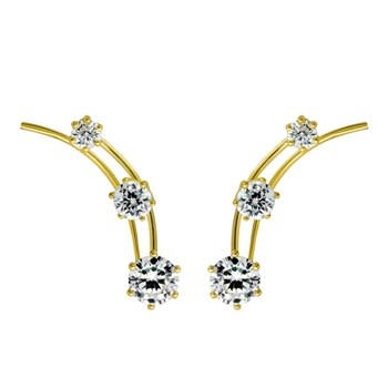 Gold CZ Large Ear Climber