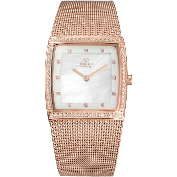 500-34-Obaku Women's Rose Gold Mesh Watch