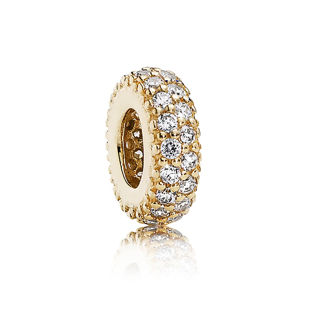 802-2839-PANDORA 14K Inspiration Within with Clear CZ Spacer