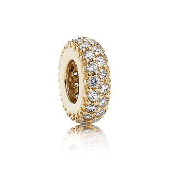 PANDORA 14K Inspiration Within with Clear CZ Spacer-802-2839