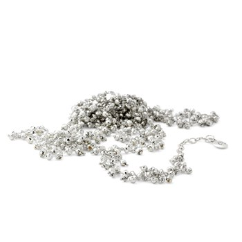 Silver Pyrite Necklace-235-581