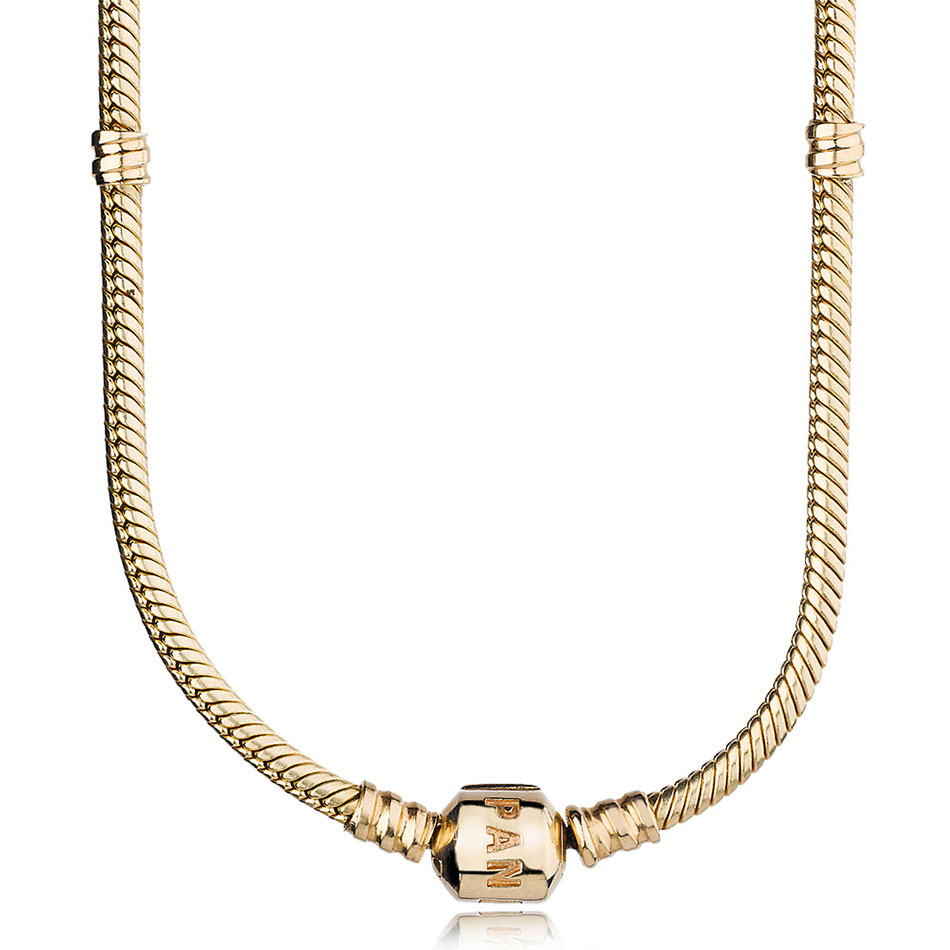 -PANDORA 14K with PANDORA Clasp Necklace