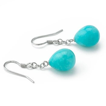 Amazonite Chain Earrings-645-731