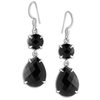 347430-Black Spinel Earrings