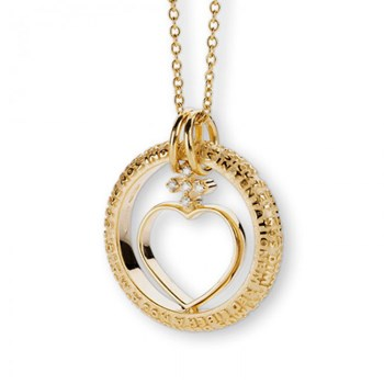 Our Father Gold & Diamond Heart Necklace