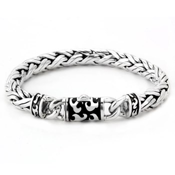 342801-Black Enamel Filigree Bracelet