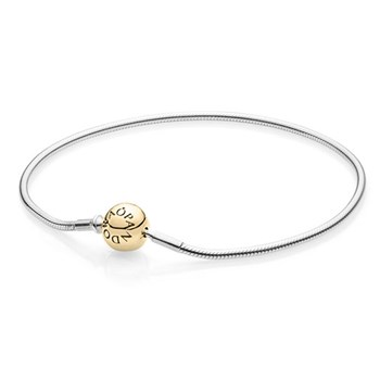 PANDORA ESSENCE Collection Sterling Silver with 14K PANDORA Clasp Bracelet