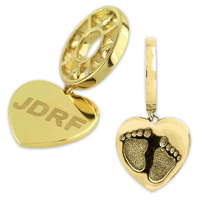 332604-Storywheels JDRF Dangle 14K Gold Wheel