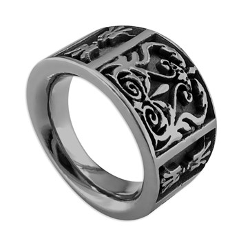 -Edward Mirell Men's Heritage Titanium Ring