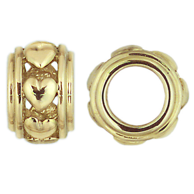 262781-Storywheels Heart Spacer 14K Gold Wheel ONLY 2 AVAILABLE!