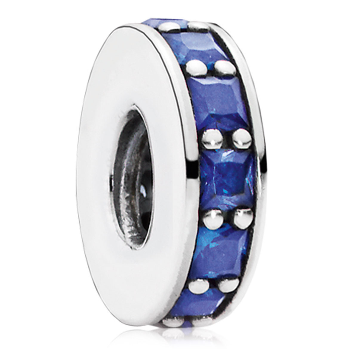 802-3073-PANDORA Eternity with Royal Blue Crystal Spacer