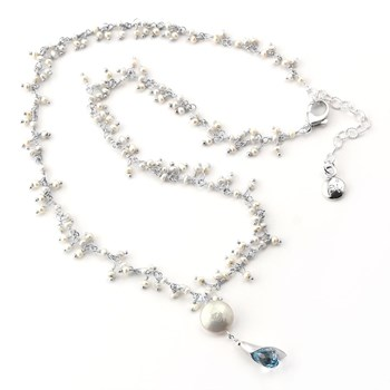 348488-Pearl & Topaz Necklace