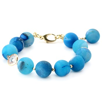 Lollies Blue Drusy Bracelet 344887