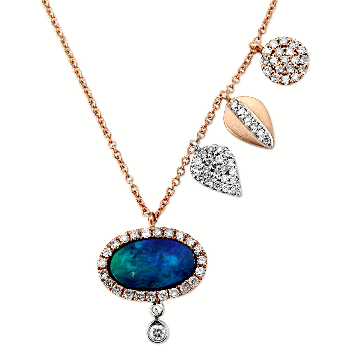 344782-Diamond and Opal Necklace