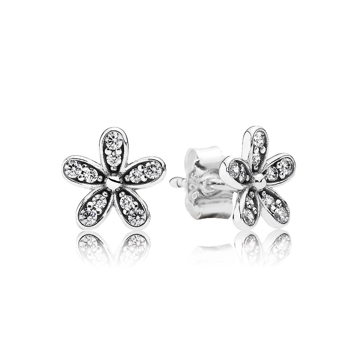 804-382-PANDORA Dazzling Daisy with Clear CZ Stud Earrings