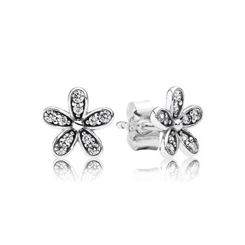 PANDORA Dazzling Daisy with Clear CZ Stud Earrings-804-382