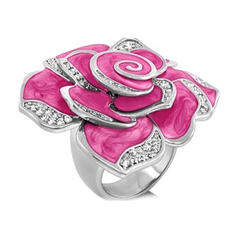 Pink 'Pave Rose' Ring-343740