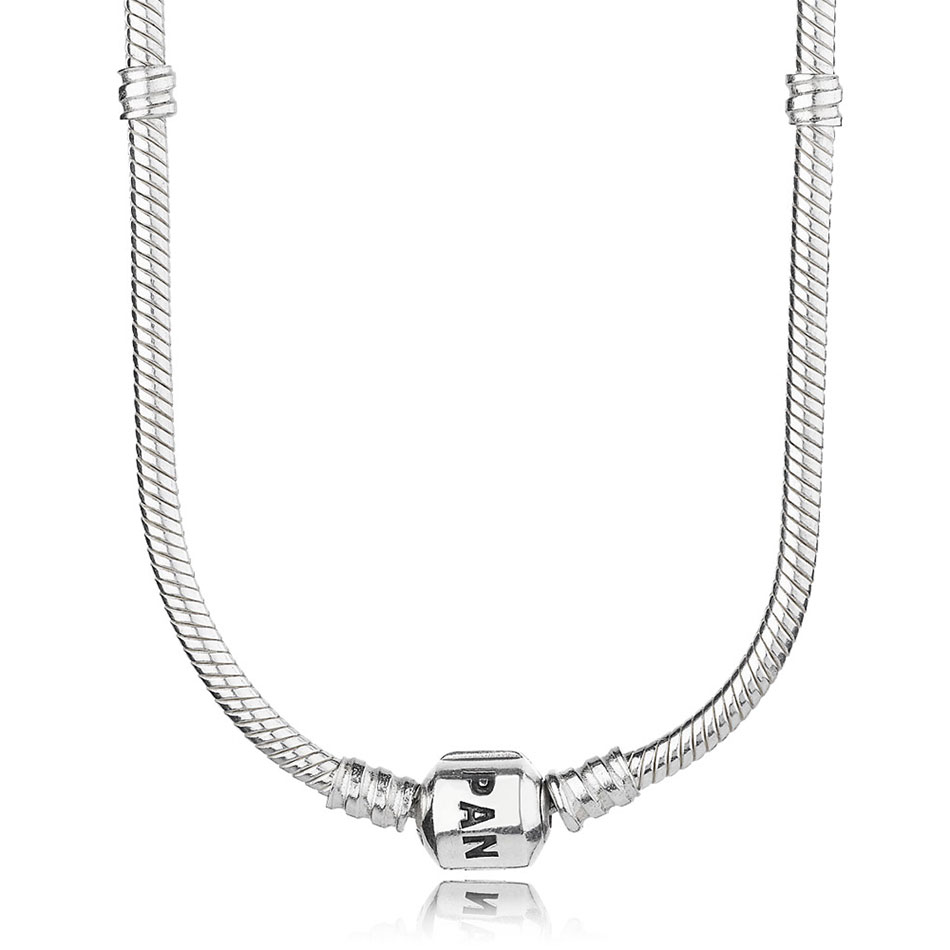 PANDORA Sterling Silver with PANDORA Clasp Necklace-590702HV