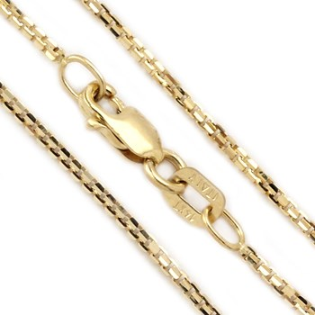 18'' Medium 14kt Yellow Gold Octabox Chain-342038