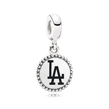 345403-PANDORA Los Angeles Dodgers Baseball Charm RETIRED