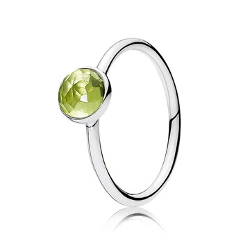 PANDORA August Droplet with Peridot Ring
