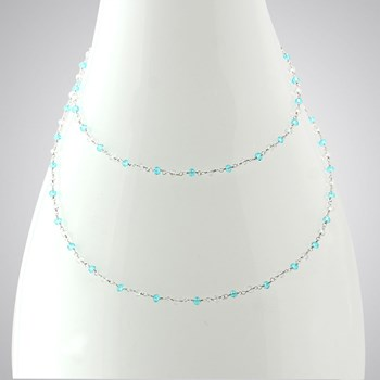 Blue & Clear Quartz Necklace