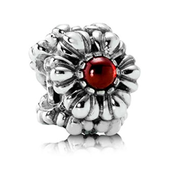 PANDORA Birthday Bloom January with Garnet Charm RETIRED ONLY 1 LEFT!-802-134