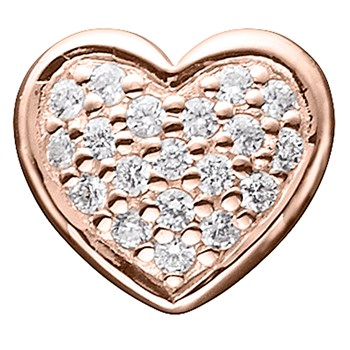 STORY by Kranz & Ziegler Rose Gold Plated Clear Pave Heart Button-346922