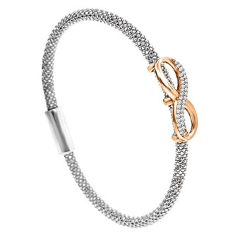 Infinity Silver Bling Bangle-344909