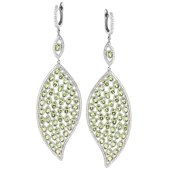 Peridot Earrings-347203