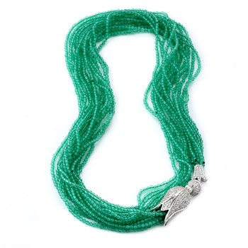 235-456-Multi-Strand Green Aventurine Tulip Necklace