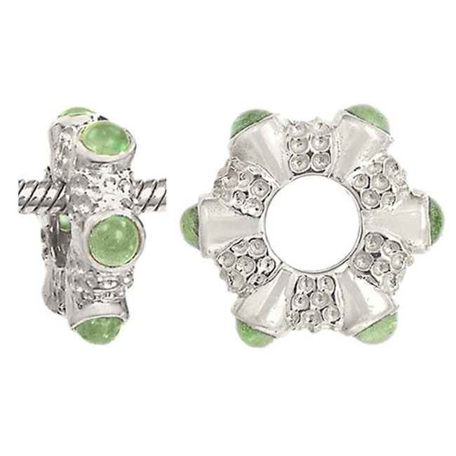 274968-Storywheels Peridot 14K White Gold Wheel ONLY 5 AVAILABLE!